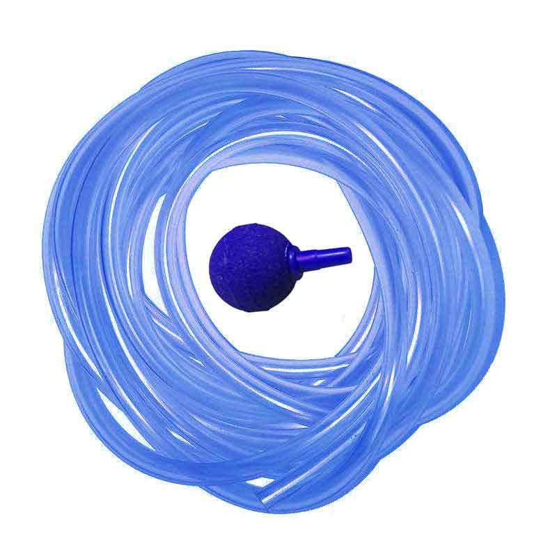 شلنگ آبی هوای آکواریوم ماهی پت مدل M طول 10 متر به همراه سنگ هوا