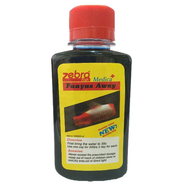 محلول ضد قارچ زبرا مدل fumgus away حجم 120 میلی لیتر