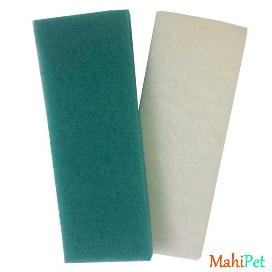 پد فیلتر آکواریوم آکوا مدل CW بسته 2 عددی | سبز آبی