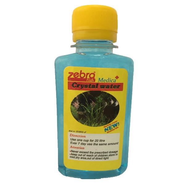 محلول شفاف کننده آکواریوم زبرا crystal water میلی لیتر 120