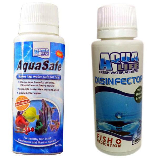 محلول آکواسیف آکوالایف مدل7Daryaحجم 100میلی لیتر به همراه محلول ضد عفونی آکواریوم