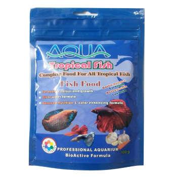 غذا ماهی آکوا مدل گرم TROPICAL FISH 100