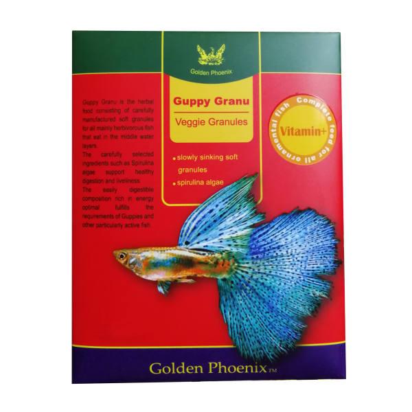 غذای ماهی گلدن فونیکس مدل گوپی گرانول وزن 20 گرم