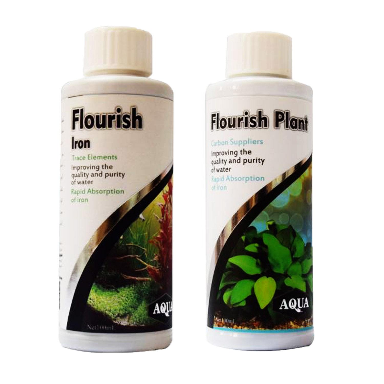 کود مایع رشد دهنده گیاه آکواریوم آکوا مدل FL100 حجم 100 میلی لیتر مجموعه ۲ عددی