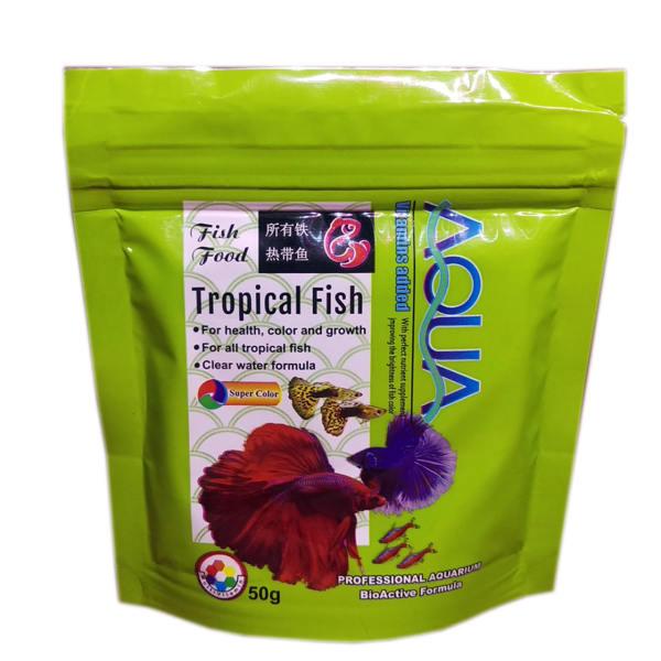 غذای خشک ماهیان ریز آکواریومی AQUA مدل گرانول 50 گرمی