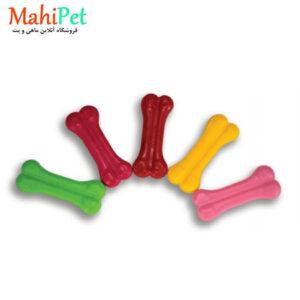 اسباب بازی سگ طرح استخوان سایز کوچک جنس RUBBER کد TOY-8