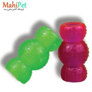 اسباب بازی سگ طرح پاپیون خار دار جنس RUBBER کد TOY-14