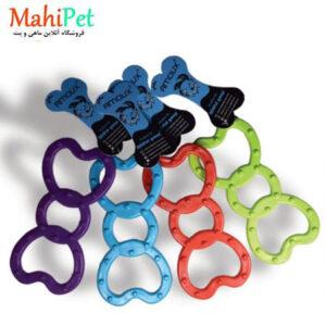 اسباب بازی سگ طرح پروانه ای خار دار جنس RUBBER کد TOY-13