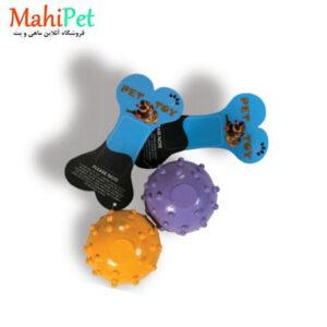 اسباب بازی سگ طرح گوی قطر 5.5 تو پر جنس RUBBER کد TOY-24