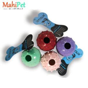 اسباب بازی سگ طرح گوی قطر 7.5 تو خالی دایرهای جنس RUBBER کد TOY-23